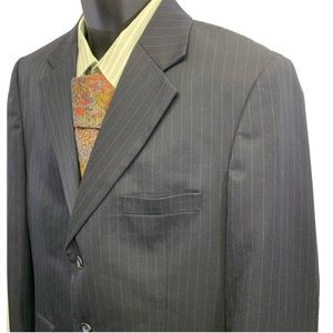 Merona Sport Coat 42R Blue Pinstriped 3 Button